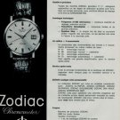 1966 Zodiac Watch Company Switzerland Vintage 1966 Swiss Ad Suisse Advert  Horlogerie Horology