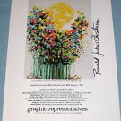 1976 Ronald Julius Christensen Sunshine Butterflies Vintage 1976 Ad Advert Advertisement