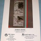 Doris Cross Raw Original 1976 Art Exhibition Art Ad Hill's Gallery, Santa Fe Advert