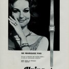 Alpina Watch Company Switzerland Vintage 1966 Swiss Ad Suisse Horlogerie Advert