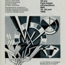 1966 Swiss Watch Fair 50th Anniversary Swiss Ad Suisse Advert  50 Ans Foire