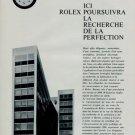 1966 Rolex Watch Company ICI Rolex Poursuivra Vintage 1966 Swiss Magazine Article