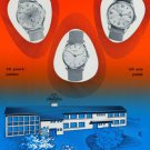 1959 Jura Watch Company 50 Year Anniversary Vintage 1959 Swiss Ad Suisse Advert