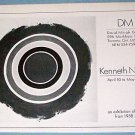 Kenneth Noland Vintage 1976 Art Exhibition Ad Advert David Mirvish Gallery, Toronto