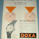 1954 Doxa Watch Company Switzerland Vintage 1954 Swiss Ad Suisse Advert Horlogerie