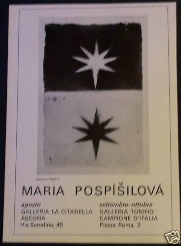 Maria Pospisilova 1968 Art Exhibition Ad Advert Galleria La Citadella Ascona Italy