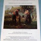 Jean Francois Millet Un Paysan Greffant 1976 Art Ad Advertisement
