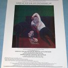 1976 Francis Bacon Reclining Man Vintage 1976 Art Ad Advert Advertisement