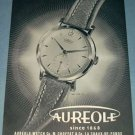 Aureole Watch Company Vintage 1954 Swiss Ad Suisse Advert Horlogerie M. Choffat & Co.