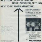 1960 Movado Watch Company Switzerland Vintage 1960 Swiss Ad Suisse Advert Horlogerie Horology