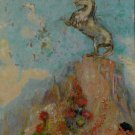 Odilon Redon Pegase Sur Son Roc Art Ad Advertisement + Detail