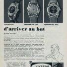 1960 Universal Watch Company Switzerland Vintage 1960 Swiss Ad Universal Geneve Suisse Advert