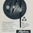 Alpina Watch Company Bienne Switzerland 1960 Swiss Ad Suisse Horlogerie Advert