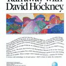 David Hockney 1988 Art Exhibition Ad AT&T Mulholland Drive