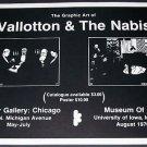 1970 Vallotton & The Nabis Vintage 1970 Art Exhibition Ad Advert Advertisement