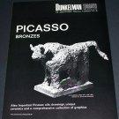 1971 Picasso Le Taureau 1971 Art Exhibition Ad Advert Dunkelman Toronto