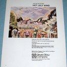 Charles Burchfield Hot July Wind Original 1976 Art Ad