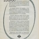 1960 Zodiac Watch Company Switzerland Vintage 1960 Swiss Ad Suisse Advert Horology Horlogerie
