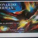 1971 Leonardo Nierman Vintage 1971 Art Exhibition Ad Advert i. f. a. Gallery, Washington, D.C.