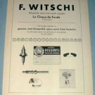 1954 F Witschi Watch Parts Company Switzerland Vintage 1954 Swiss Ad Suisse Advert Horology
