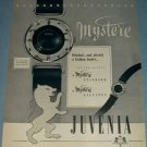 1954 Juvenia Watch Company Switzerland Vintage 1954 Swiss Ad Suisse Advert Horlogerie