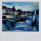 Maurice de Vlaminck Bord de Riviere 14 Juillet Art Ad Advertisement