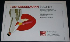 1971 Tom Wesselmann Smoker Vintage 1971 Art Ad Advert Advertisement
