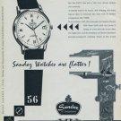 1956 Sandoz Watch Company Switzerland Sandoz Datum Advert Vintage 1956 Swiss Ad Suisse Advert