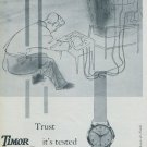 1956 Timor Watch Company Switzerland Vintage 1956 Swiss Ad Suisse Advert Horology