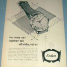 1954 Eska Watch Company Grenchen Switzerland Vintage1954 Swiss Ad Suisse Advert Horology