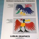 1976 Sergio Gonzalez Tornero Vintage 1976 Art Ad Advertisement Intaglio Bird