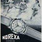 1956 Norexa Watch Company Switzerland Vintage 1956 Swiss Ad Suisse Advert Horlogerie Horology