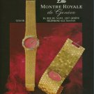 Montre Royale Watch Company Switzerland Vintage 1975 Swiss Ad Suisse Advert