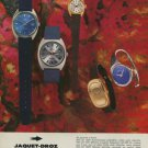 1974 Jaquet-Droz Watch Company Bienne Switzerland Vintage 1974 Swiss Ad Suisse Advert