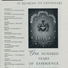 1951 Lavina Watch Company Nearing Its Centenary Vintage 1951 Swiss Ad Suisse Advert