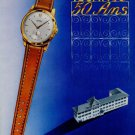 1951 Technos Watch Company 50 Year Anniversary Vintage 1951 Swiss Ad Suisse Advert Switzerland