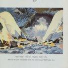 Yasu Eguchi Native Village Vintage 1981 Art Ad Advert Advertisement