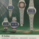 1974 Zodiac Watch Company Le Locle Switzerland Vintage 1974 Swiss Ad Suisse Advert