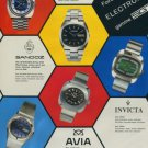 1974 SGT Watch Company Invicta Helvetia Sandoz Avia 1974 Swiss Ad Suisse Advert Switzerland