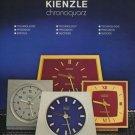 1974 Kienzle Clock Company Germany Vintage 1974 Swiss Ad Suisse Advert Horlogerie Horology