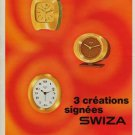 Swiza Clock Company Delemont Switzerland Vintage 1970 Swiss Ad Suisse Advert