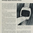1970 Hamilton Watch Company Pulsar Vintage 1970 Swiss Magazine Article Technique