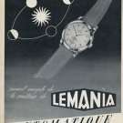 1955 Lemania Watch Company Switzerland 1955 Swiss Ad Suisse Advert Horlogerie Horology
