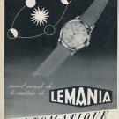 1955 Lemania Watch Company Switzerland 1955 Swiss Ad Suisse Advert Horlogerie Horology