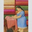 Fernando Botero The Seamstress (La Costurera) Art Ad