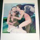 Yue Minjun Cupid Kissing Psyche Art Ad Advertisement + Detail