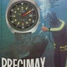 1972 Precimax Watch Company Switzerland Vintage 1972 Swiss Ad Suisse Advert Horology Horlogerie