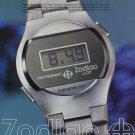 1976 Zodiac Watch Company Zodiac Astrodigit LCD Advert Vintage 1976 Swiss Ad Suisse Advert