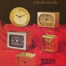 1976 Swiza Clock Company Louis Schwab SA Vintage 1976 Swiss Ad Suisse Advert Horology