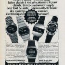 Redan Watch Company Switzerland Vintage 1976 Swiss Ad Suisse Advert Horlogerie